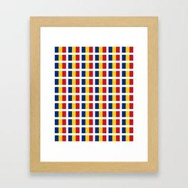 Flag of romania-romania,romanian,balkan,bucharest,danube,romani,romana,bucuresti Framed Art Print