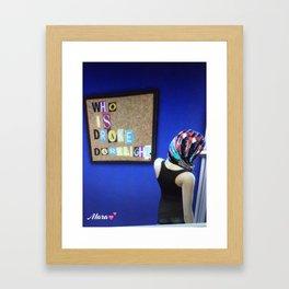 New Mara Autographed Print :Who is Drake Darklight  Framed Art Print