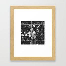In the shoemaker's shop Framed Art Print