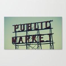 public market... Canvas Print