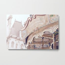 Classic Paris French Carousel Metal Print