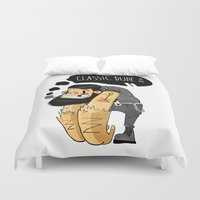 tatoo Duvet Covers featuring Classic Dude by Bishok