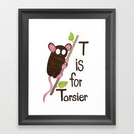 T is for Tarsier Framed Art Print