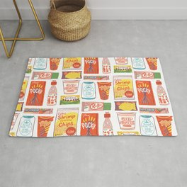 Asian Snacks Rug