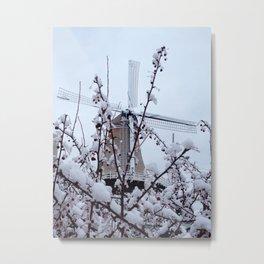Windmill and Berries Metal Print