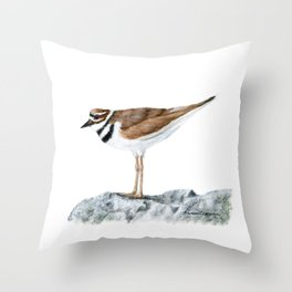 Killdeer Art 1 by Teresa Thompson Throw Pillow