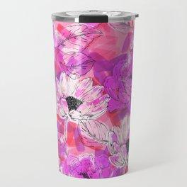Punky Pink Floral Travel Mug