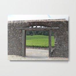 doorway to the vineyard Metal Print