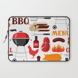 Grilling Season 4th Of July Texas BBQ Print Laptop Sleeve