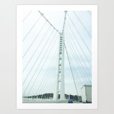 new bay bridge  Art Print
