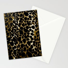 Animal Print Pattern Black and Brown Stationery Cards
