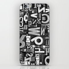 Metal Madness - Typography Photography™ iPhone & iPod Skin