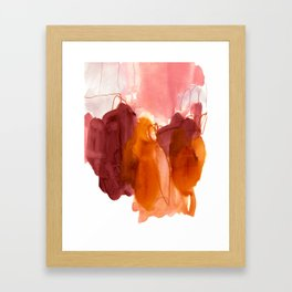 abstract painting X Framed Art Print
