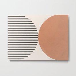 Semicircle Stripes - Terracotta Metal Print
