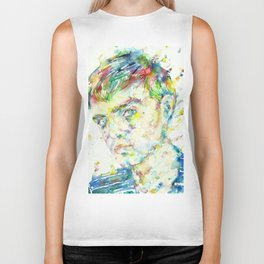TRUMAN CAPOTE - watercolor portrait Biker Tank