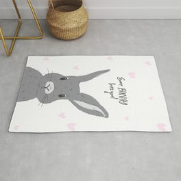 Some bunny loves you! Rug