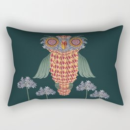 The owl of wisdom Rectangular Pillow