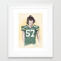 packers Framed Art Prints featuring Harry is Packers AF by Coconut Wishes