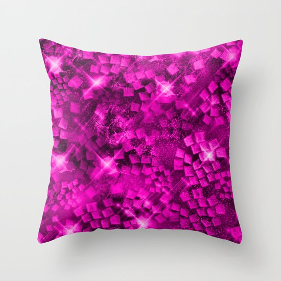 Dazzling Series (Pink) Throw Pillow