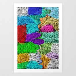 Filling with colors Art Print