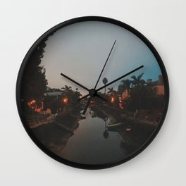Venice Canals, Los Angeles, CA  Wall Clock
