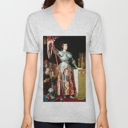 Jean-Auguste-Dominique Ingres - Joan of Arc at the Coronation of Charles VII Unisex V-Neck
