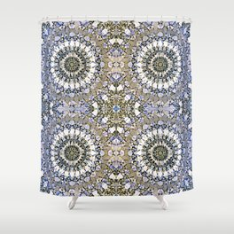 Winter mosaic with mandalas Shower Curtain
