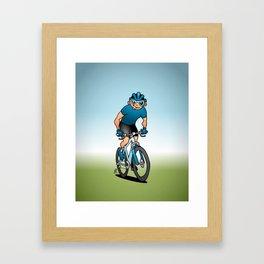 MTB - Mountain biker in the mountains Framed Art Print