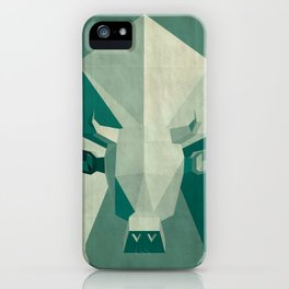 Picasso style abstract cow iPhone Case