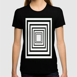 Concentric Squares Black and White T-shirt