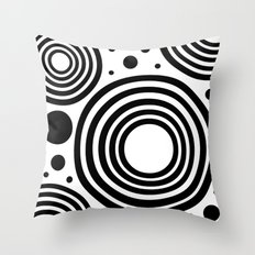 Circular  |  Black and White Throw Pillow
