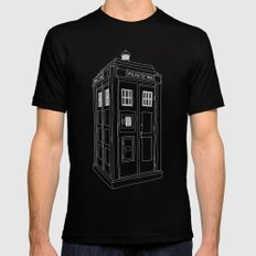 Doctor Who Tardis X-LARGE Mens Fitted Tee Black