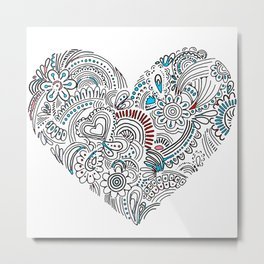 Unique Love Sign Art Metal Print