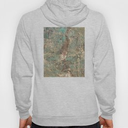 Turquoise and Fawn Brown Marble Hoody