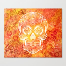 Muertos Red Canvas Print