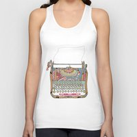 letter Tank Tops featuring I DON'T KNOW WHAT TO WRITE YOU by Bianca Green