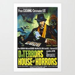 House of Horrors, vintage horror movie poster, Doctor Terror´s Art Print