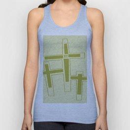 Three Crosses on Calvary. Unisex Tank Top