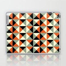 Mid-century pattern (orange triangles) Laptop & iPad Skin