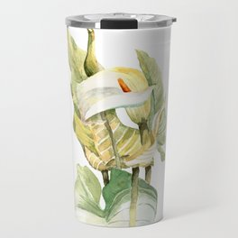 Watercolor hand painted illustration with callas in gentle tone Travel Mug