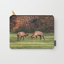 Elk Sparring Great Smoky Mountains Carry-All Pouch