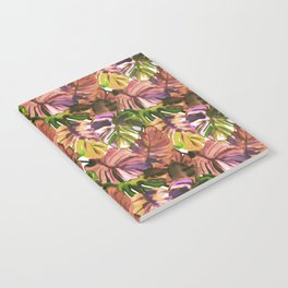 Welcome to the Jungle Palm Aubergine Notebook