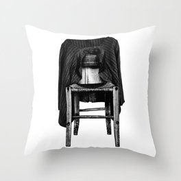 rustic chair Throw Pillow