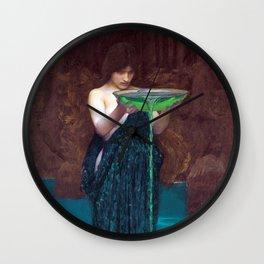 John William Waterhouse - Circe Invidiosa Wall Clock