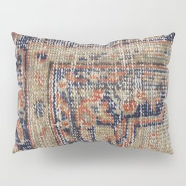 Vintage Woven Navy Blue and Tan Kilim  Pillow Sham