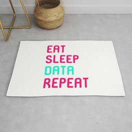 Eat Sleep Data Math Science Geek Rug