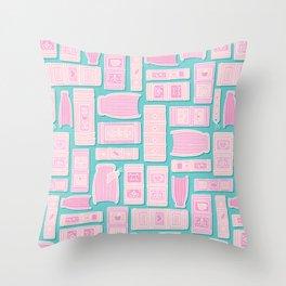 Books - Pink Chew Gum Throw Pillow