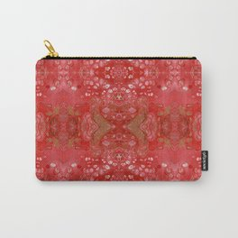 Red and gold fluid art Carry-All Pouch