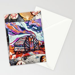 A little house on Mars Stationery Cards
