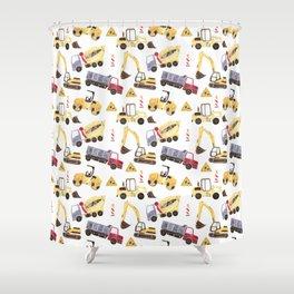Construction Machines Shower Curtain